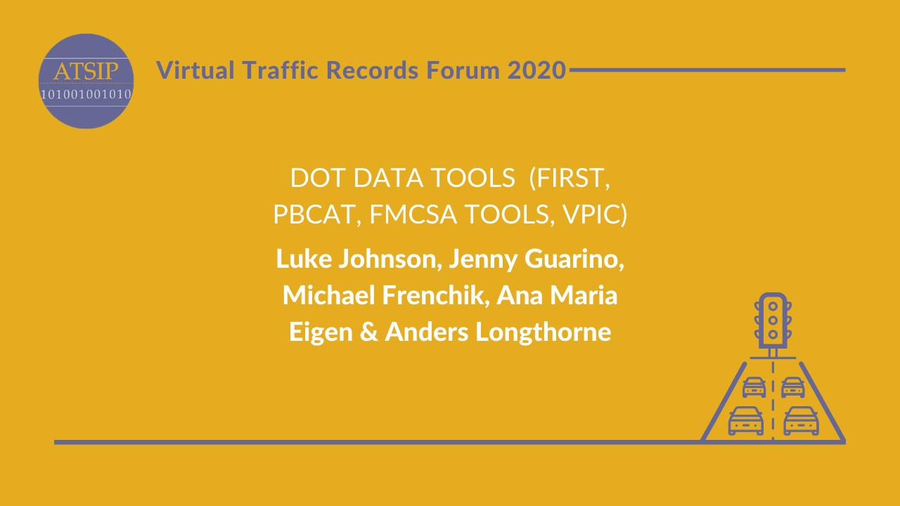 DOT Data Tools  (FIRST, PBCAT, FMCSA tools, vPIC) / Pedestrian and Bicycle Crash Analysis Tool (PBCAT) Modernization